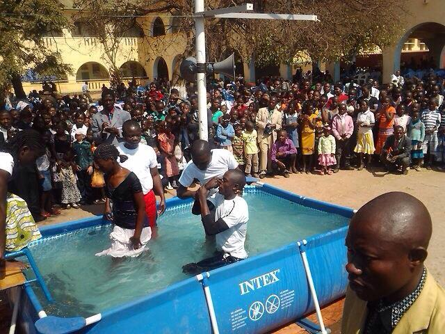 Baptism in Democratic Republic of the Congo in Katanga province..