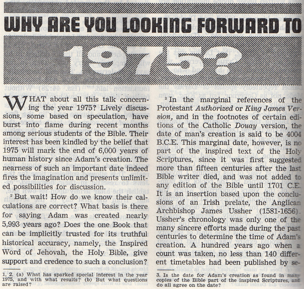 Why are you looking forward to 1975?